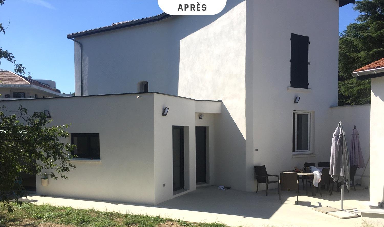 Extension d'une maison à Oullins (Rhône) - Après