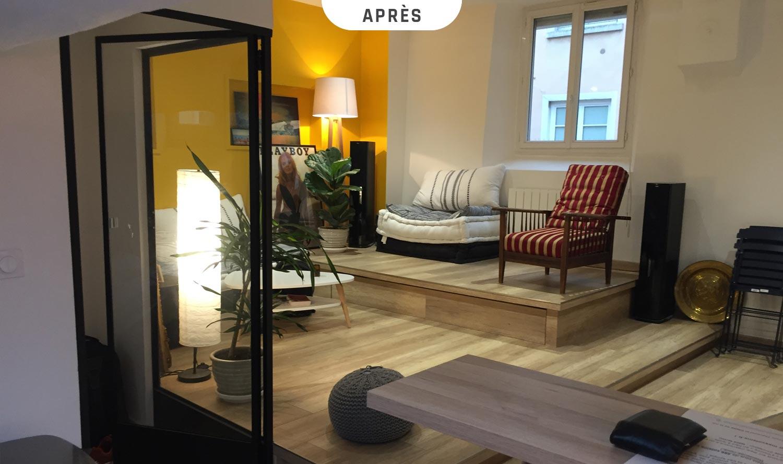 Rénovation d'un appartement à La Croix-Rousse (Lyon) - Après